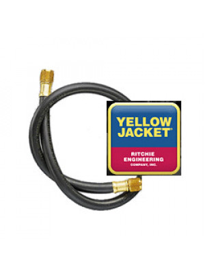 "Ritchie Yellow Jacket 15672 - 72"" Black HD Hose, 3/8"" x 3/8"" Straight Fittings"
